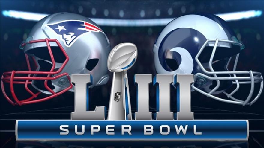 Superbowl LIII promotional banner. nfl.com/super-bowl