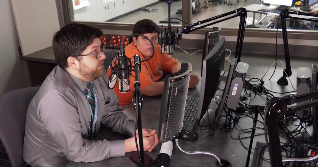 Justin Elbert being interviewed by the Tempest Radio crew.