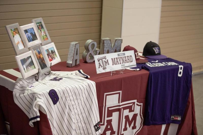 Will Maynard's signing day set up. Photo by: Jacob Elbert
