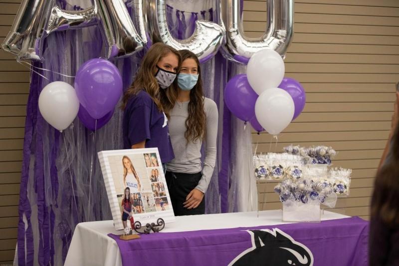 Jenna Karp's signing day set up. Photo by: Jacob Elbert